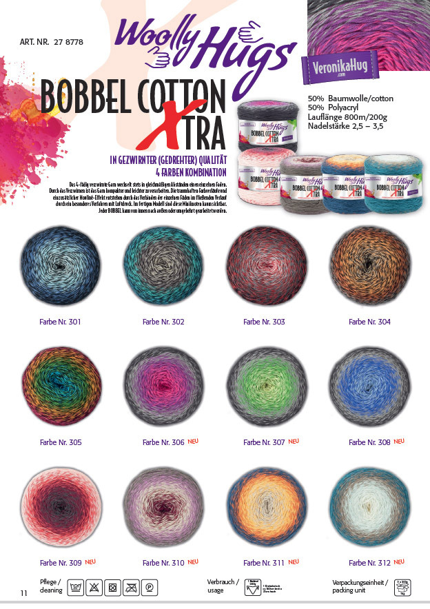 Woolly Hugs Bobbel Cotton XTRA
